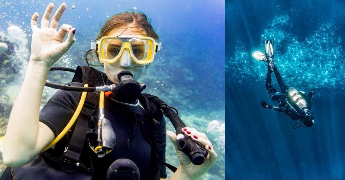underwater swiming
